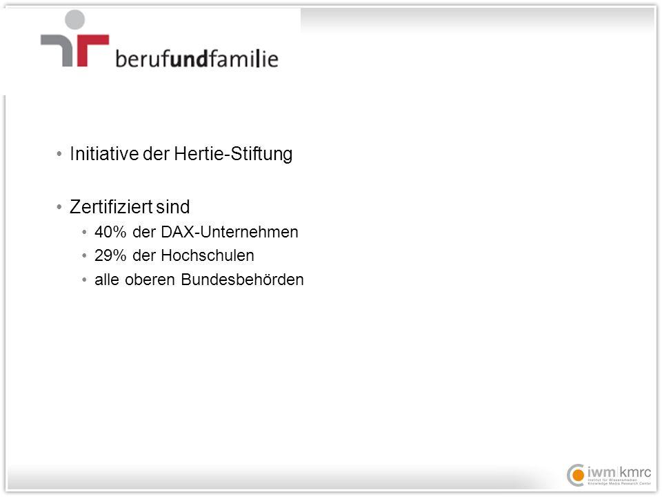 Initiative der Hertie-Stiftung Zertifiziert sind
