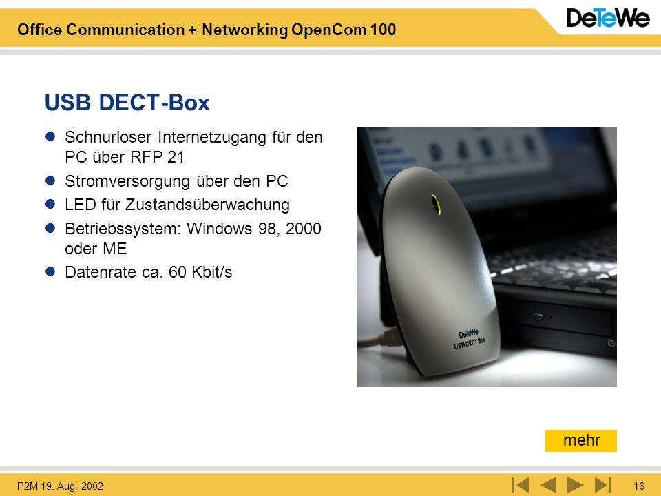 USB DECT-Box Schnurloser Internetzugang für den PC über RFP 21