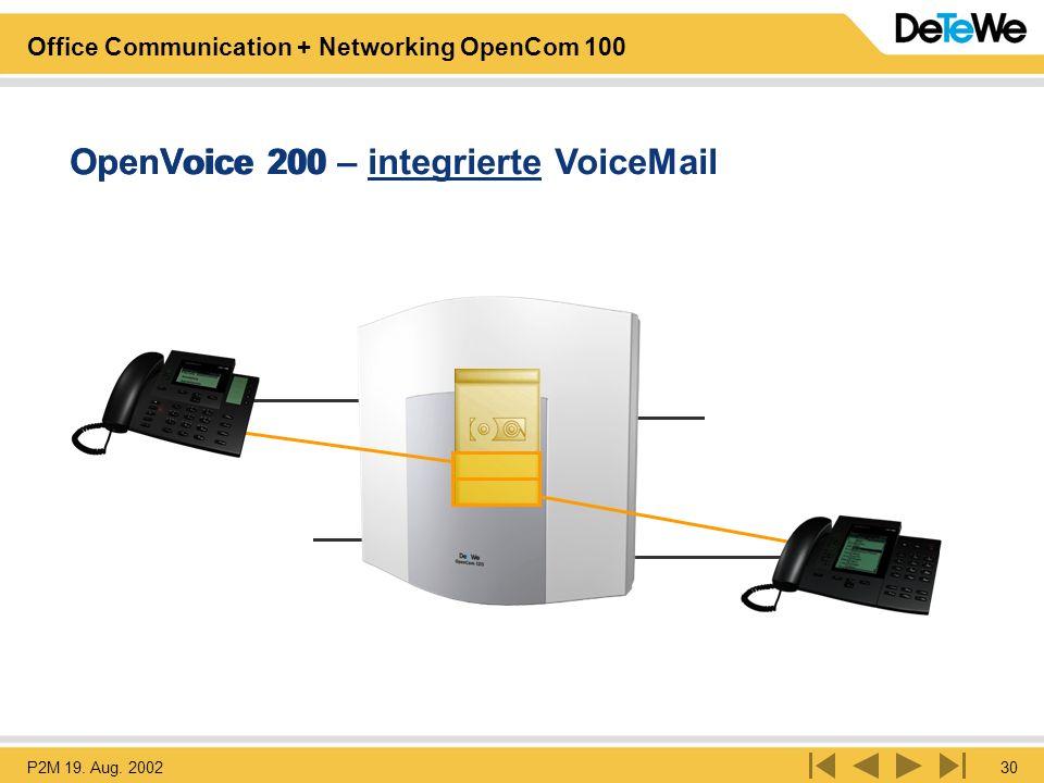 OpenVoice 200 – integrierte VoiceMail