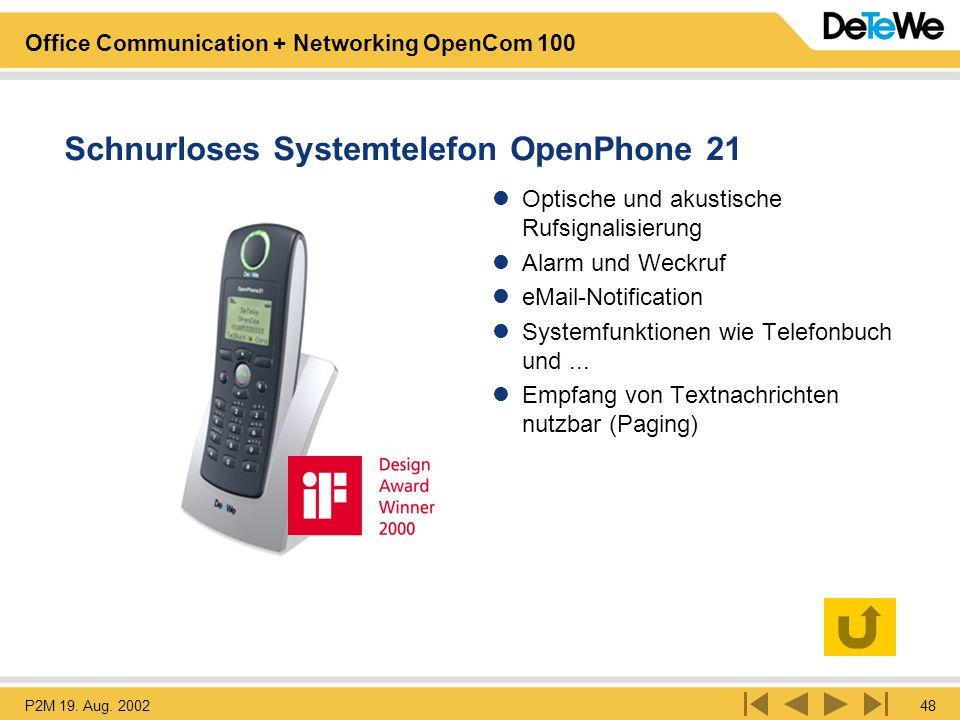 Schnurloses Systemtelefon OpenPhone 21