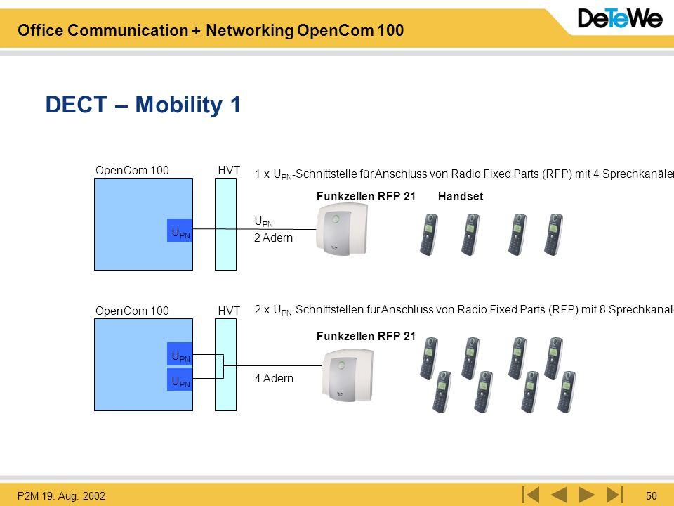 DECT – Mobility 1 OpenCom 100 HVT