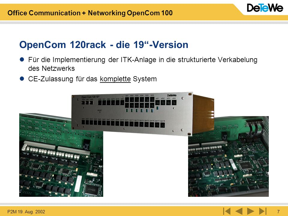OpenCom 120rack - die 19 -Version
