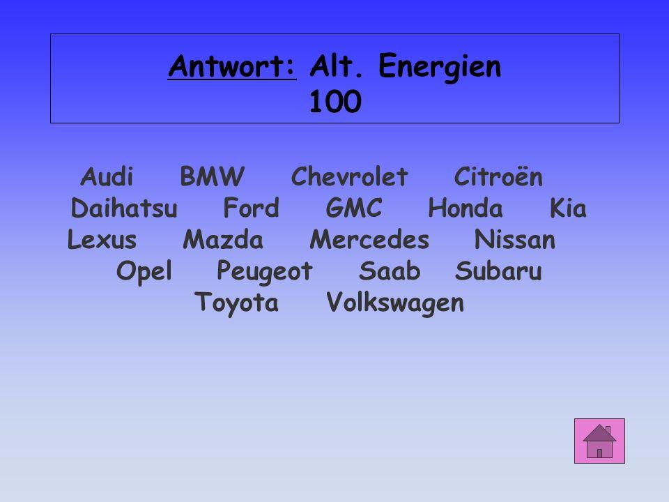 Antwort: Alt. Energien 100