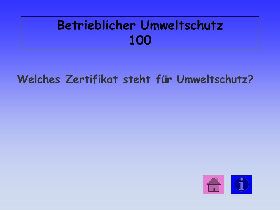 Betrieblicher Umweltschutz 100