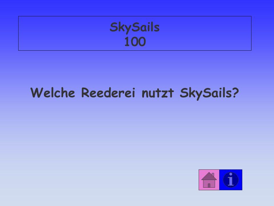 Welche Reederei nutzt SkySails