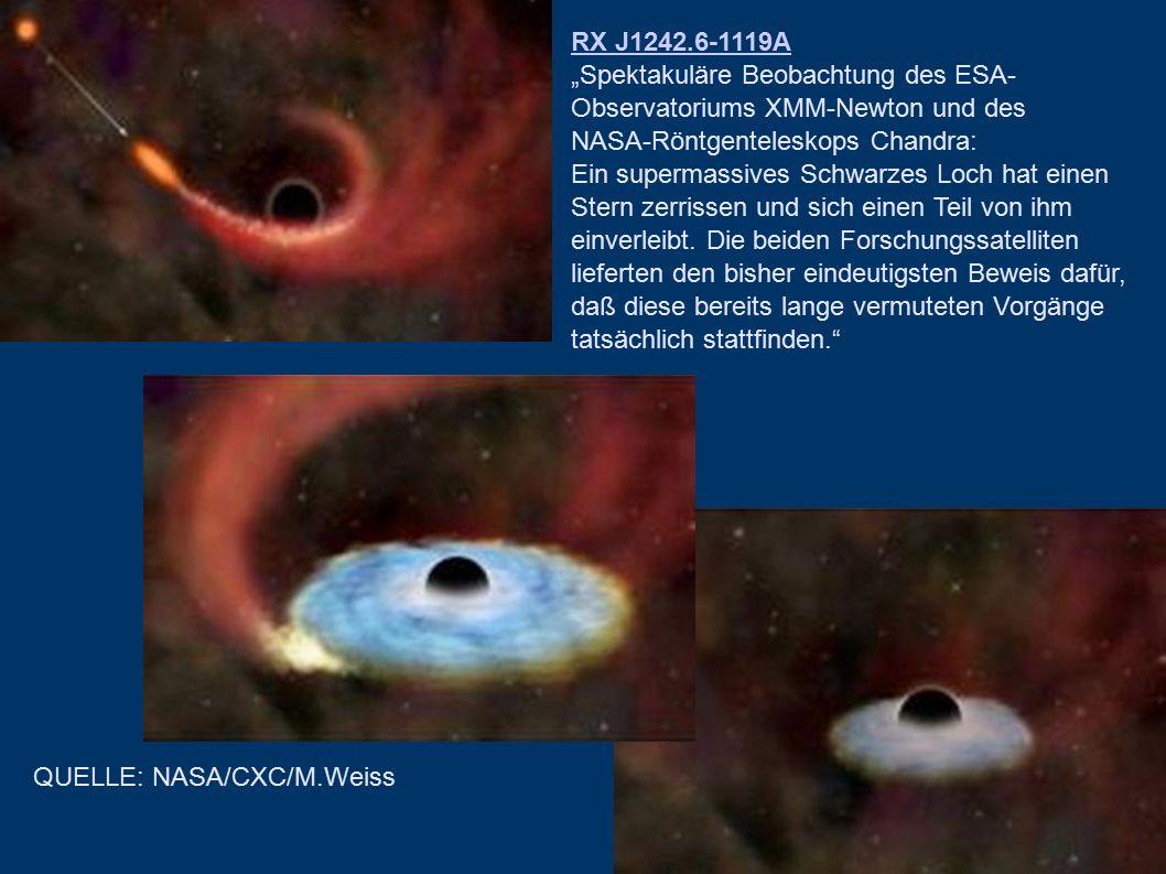 "RX J1242.6-1119A ""Spektakuläre Beobachtung des ESA-Observatoriums XMM-Newton und des. NASA-Röntgenteleskops Chandra:"