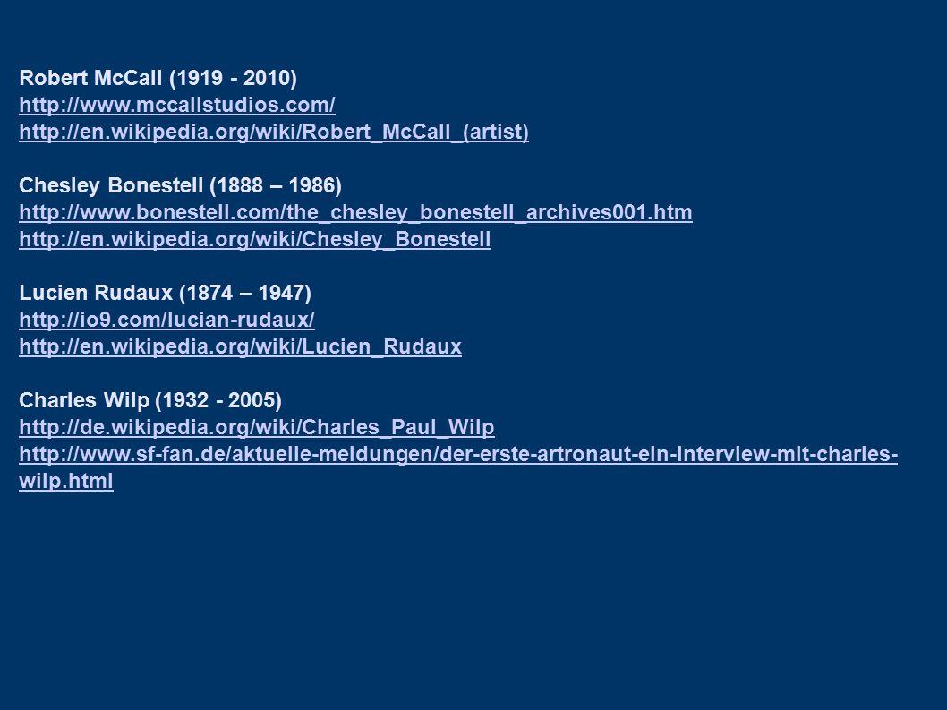 Robert McCall (1919 - 2010) http://www.mccallstudios.com/ http://en.wikipedia.org/wiki/Robert_McCall_(artist)