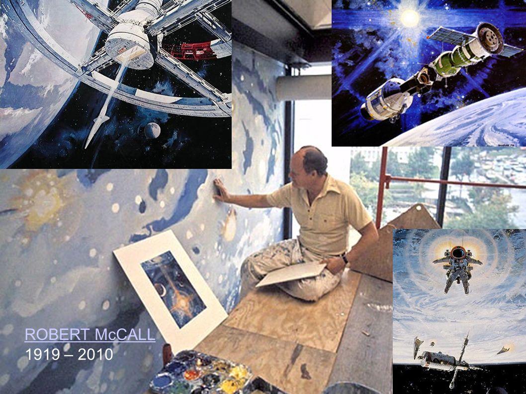 In den 1970er Jahren war derUS-Amerikaner Robert McCall berühmt für seine riesigen Wandgemälde, die für große Museen anfertigte.