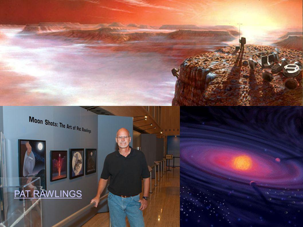 Patrick Roy Rawlings ist durch seine Marslandschaften bekannt geworden, die er in den 80er und 90er Jahren für die NASA gemalt hatte.