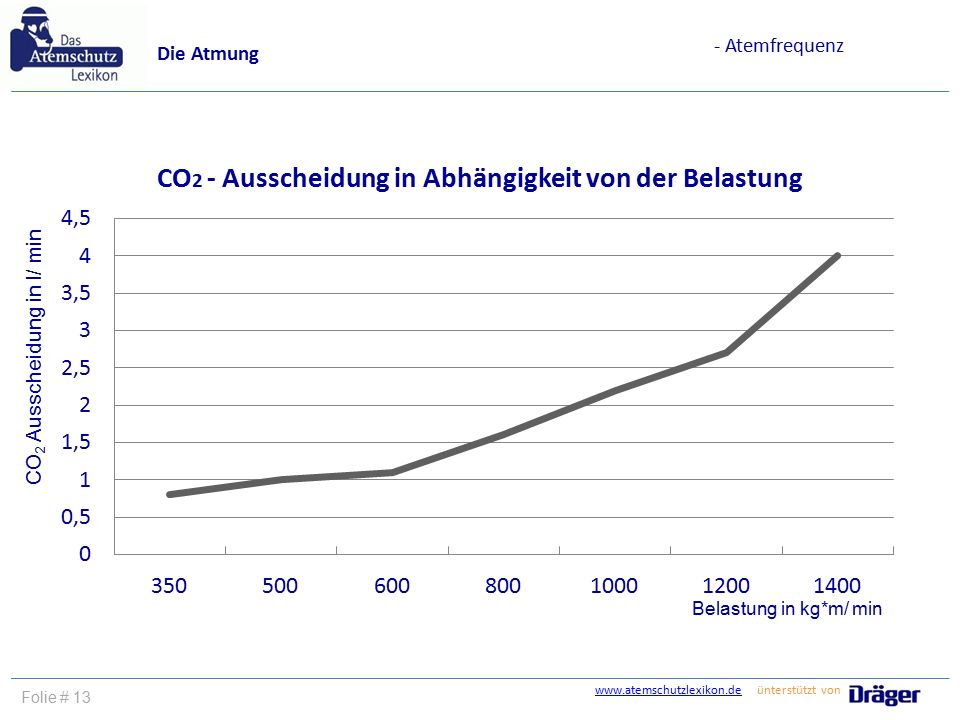 CO2 Ausscheidung in l/ min