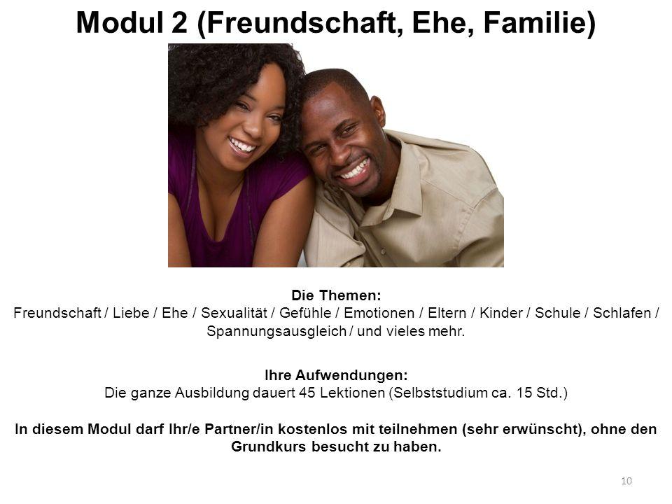 Modul 2 (Freundschaft, Ehe, Familie)