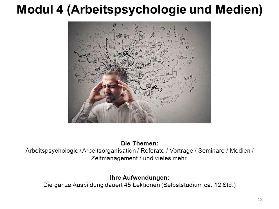 Modul 4 (Arbeitspsychologie und Medien)