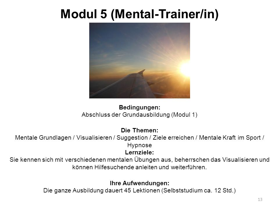 Modul 5 (Mental-Trainer/in)