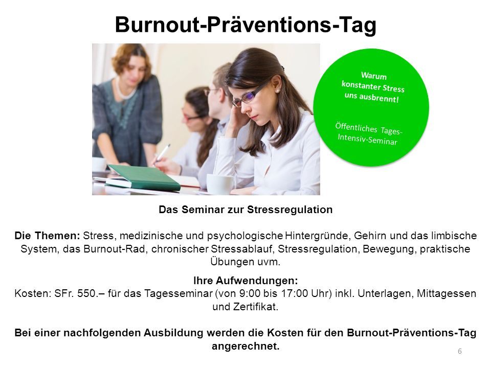 Burnout-Präventions-Tag