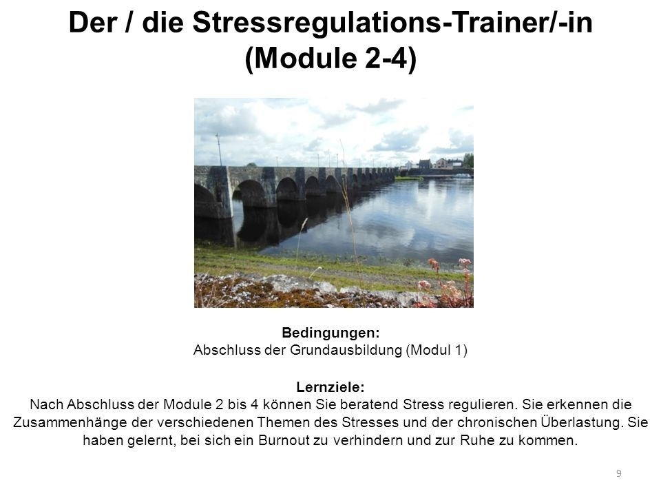 Der / die Stressregulations-Trainer/-in