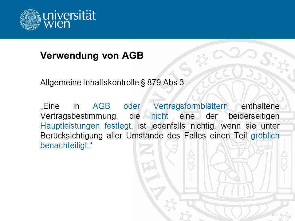 Verwendung von AGB