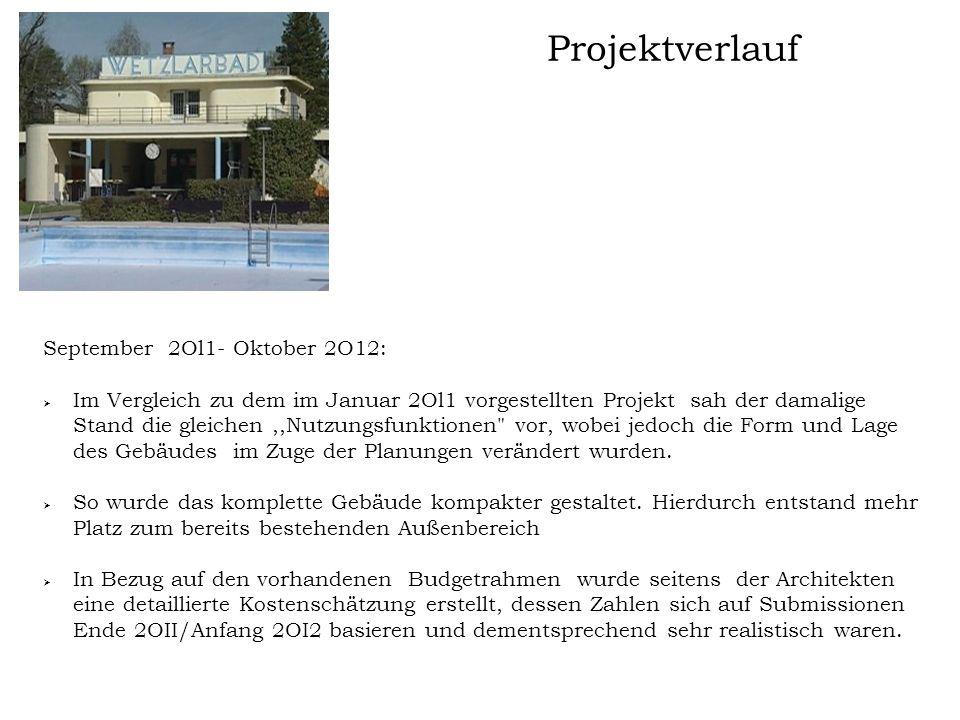 Projektverlauf September 2Ol1- Oktober 2O12: