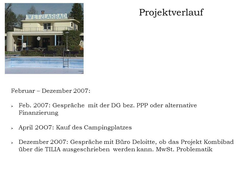 Projektverlauf Februar – Dezember 2007:
