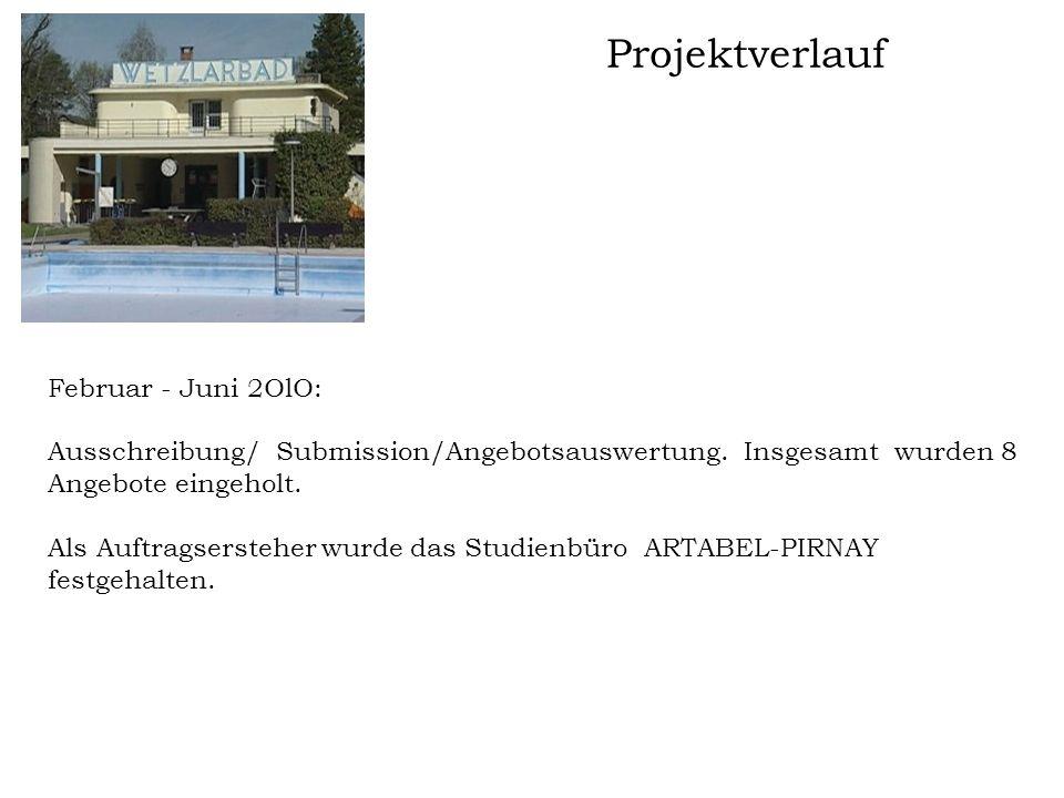 Projektverlauf Februar - Juni 2OlO: