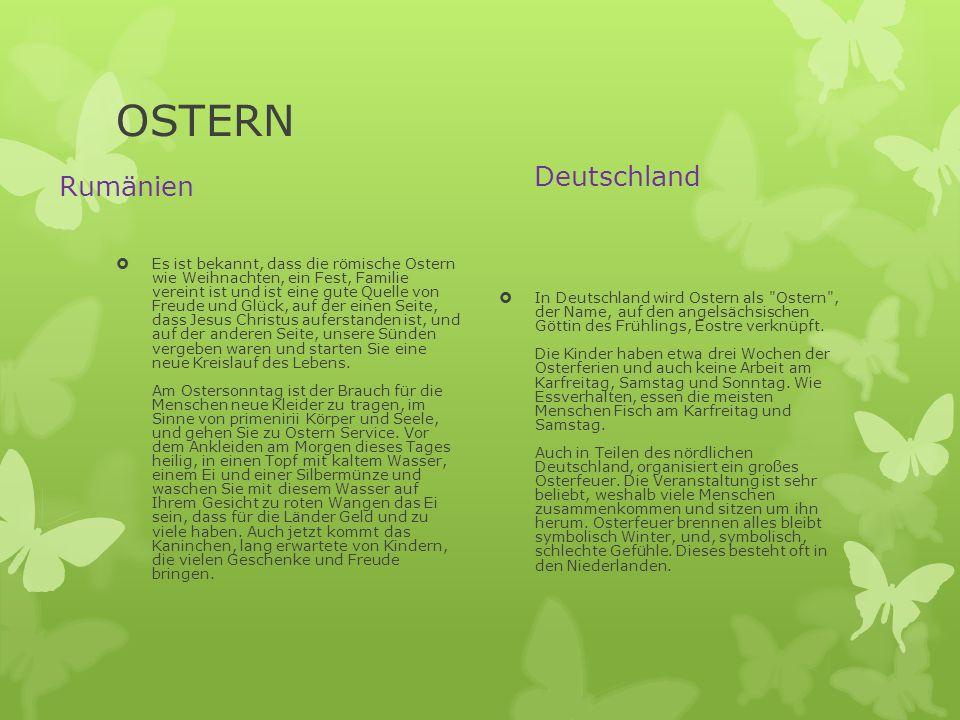 OSTERN Deutschland Rumänien