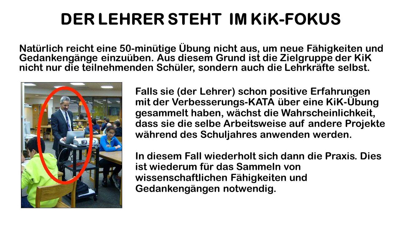 DER LEHRER STEHT IM KiK-FOKUS