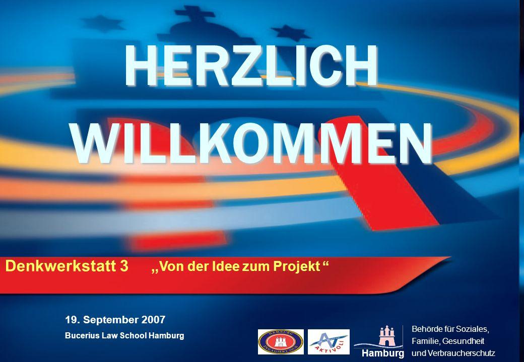 """HERZLICH WILLKOMMEN Denkwerkstatt 3 """"Von der Idee zum Projekt"""