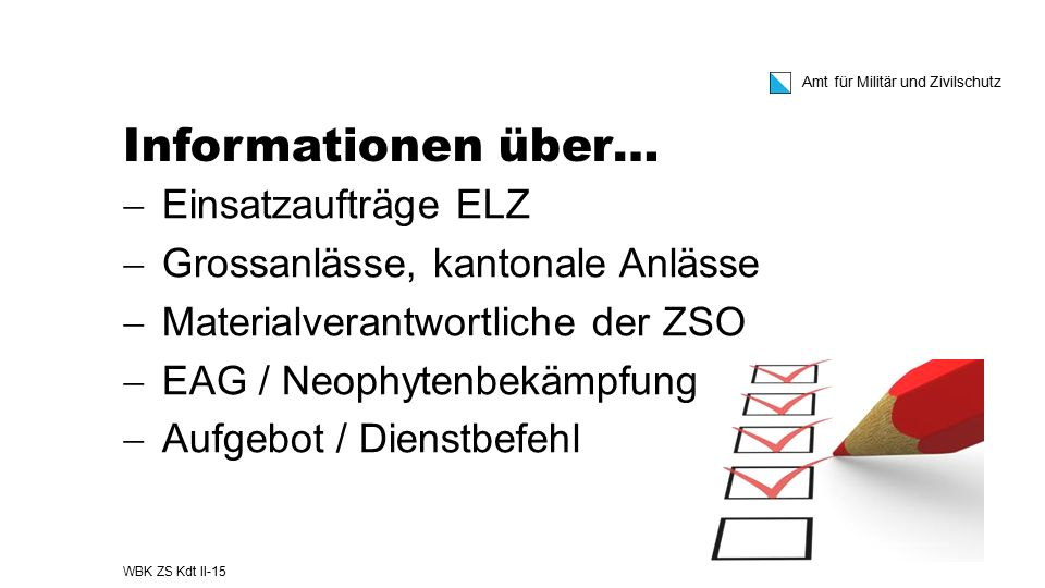 Informationen über… Einsatzaufträge ELZ