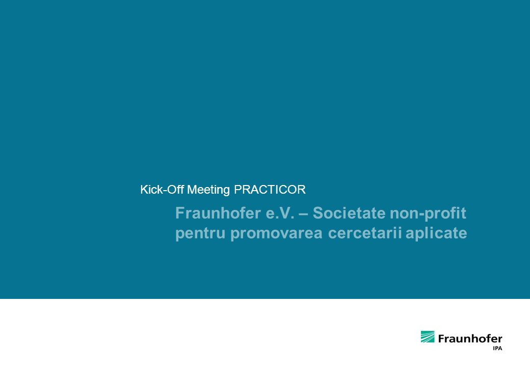 Kick-Off Meeting PRACTICOR
