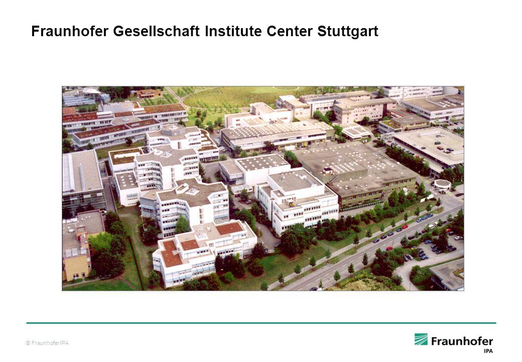 Fraunhofer Gesellschaft Institute Center Stuttgart