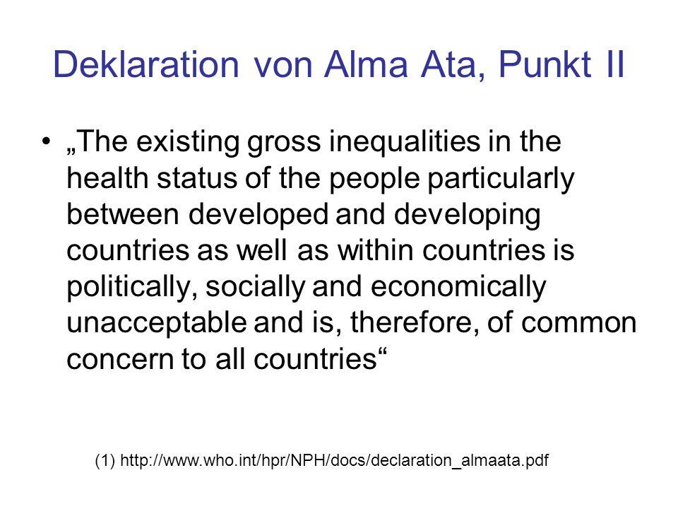 Deklaration von Alma Ata, Punkt II