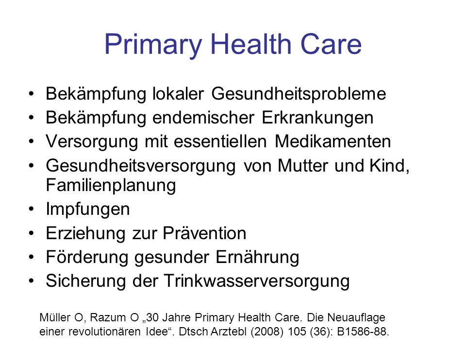 Primary Health Care Bekämpfung lokaler Gesundheitsprobleme