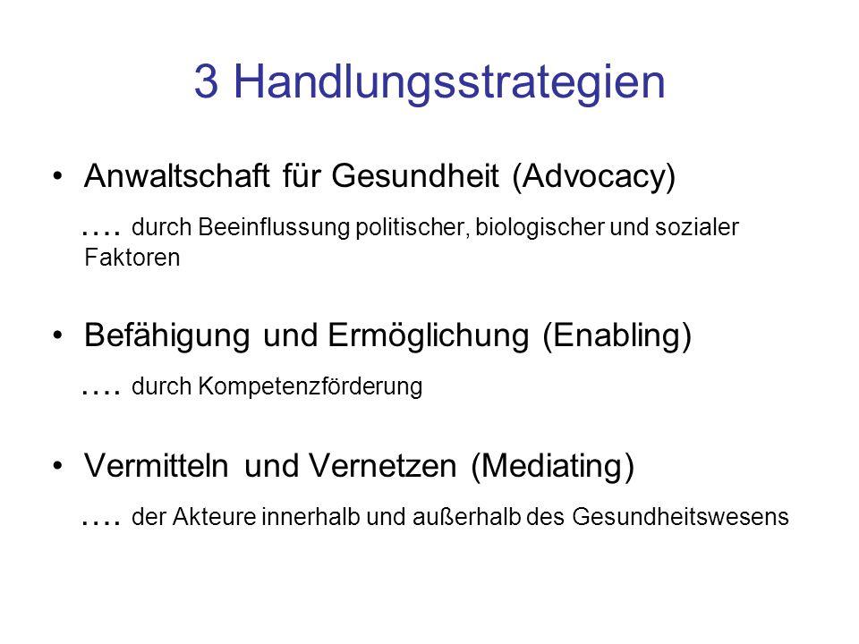 3 Handlungsstrategien Anwaltschaft für Gesundheit (Advocacy)