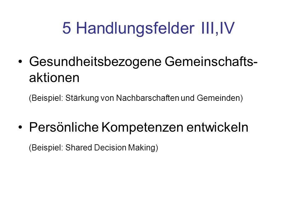 5 Handlungsfelder III,IV