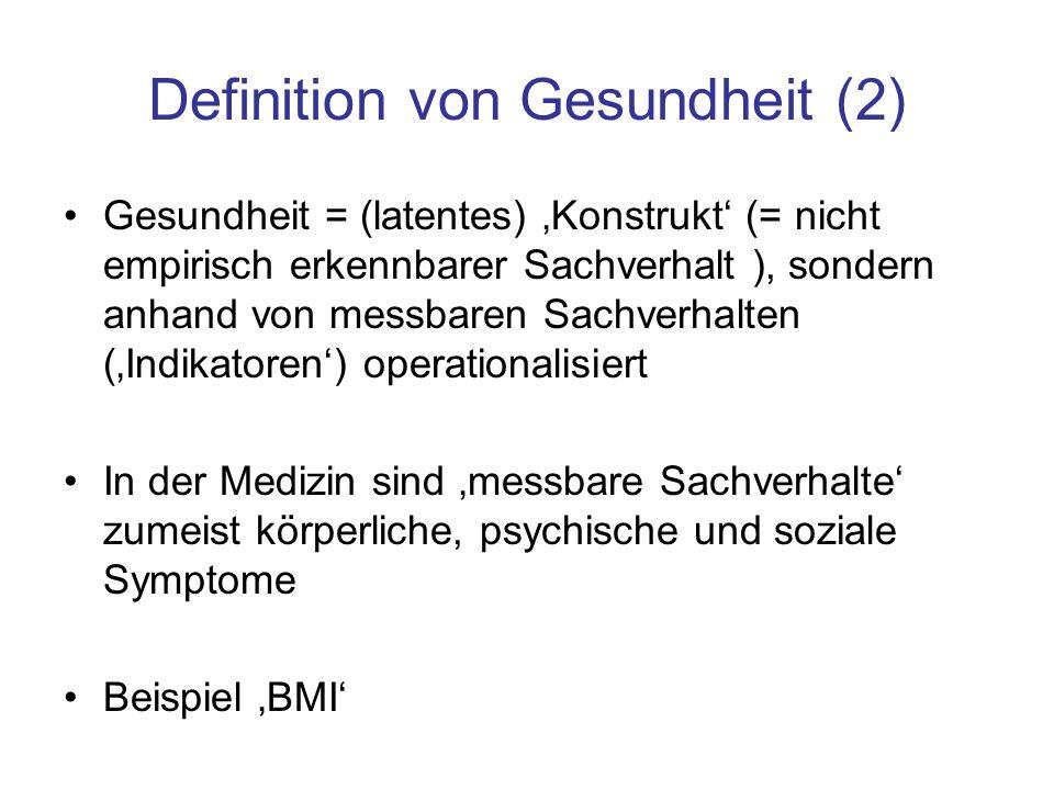 Definition von Gesundheit (2)