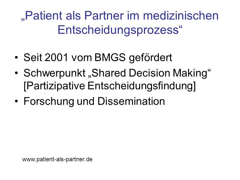 """""""Patient als Partner im medizinischen Entscheidungsprozess"""