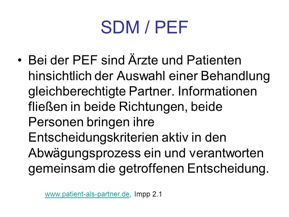 SDM / PEF