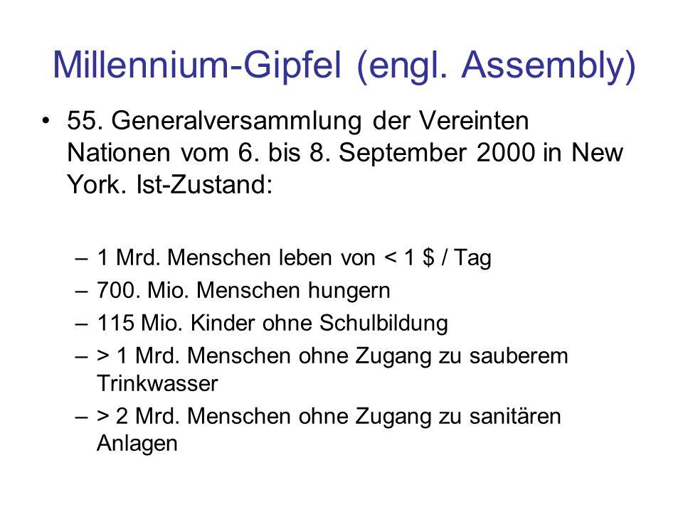 Millennium-Gipfel (engl. Assembly)