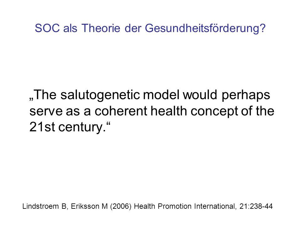 SOC als Theorie der Gesundheitsförderung