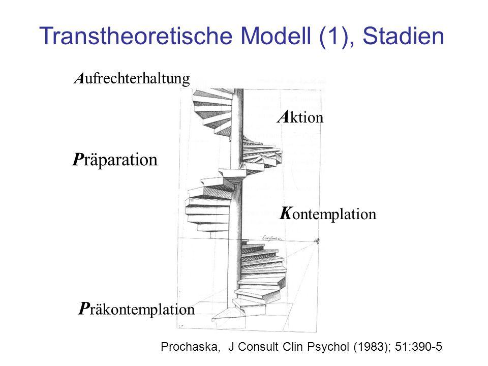 Transtheoretische Modell (1), Stadien