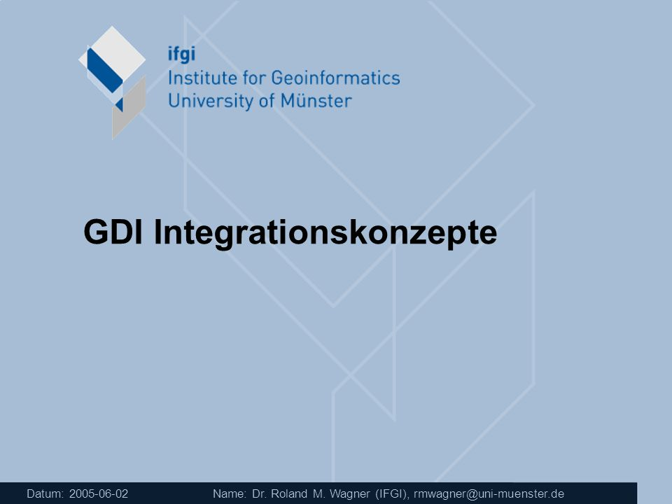 GDI Integrationskonzepte