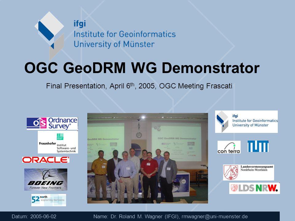 OGC GeoDRM WG Demonstrator
