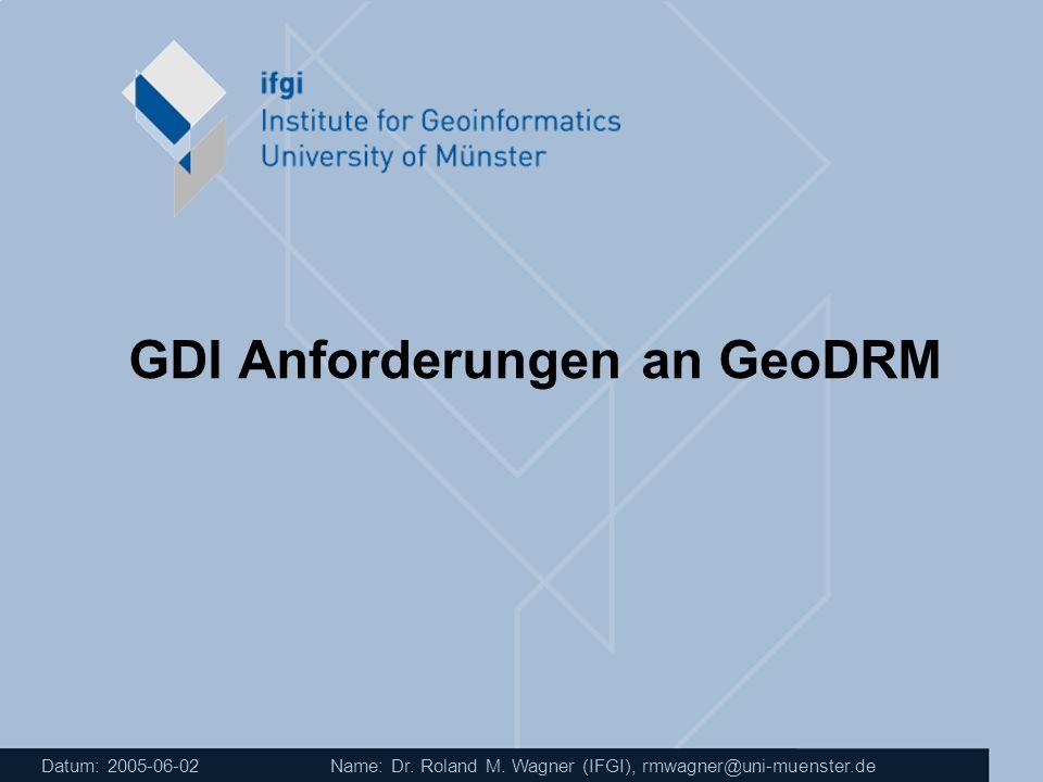 GDI Anforderungen an GeoDRM