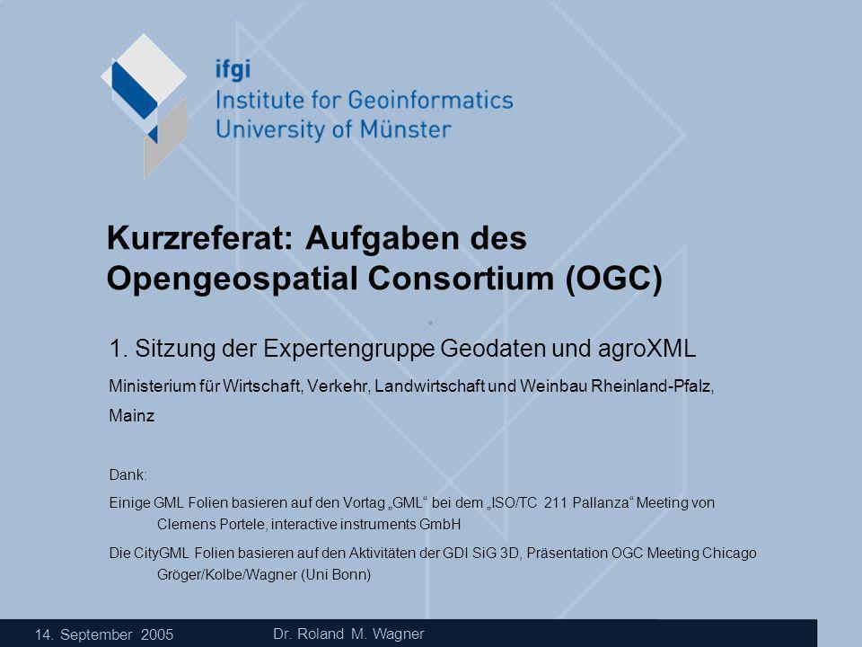 Kurzreferat: Aufgaben des Opengeospatial Consortium (OGC)