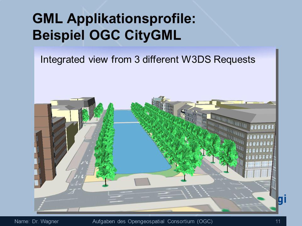 GML Applikationsprofile: Beispiel OGC CityGML