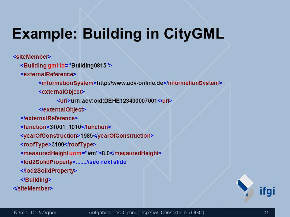 Example: Building in CityGML