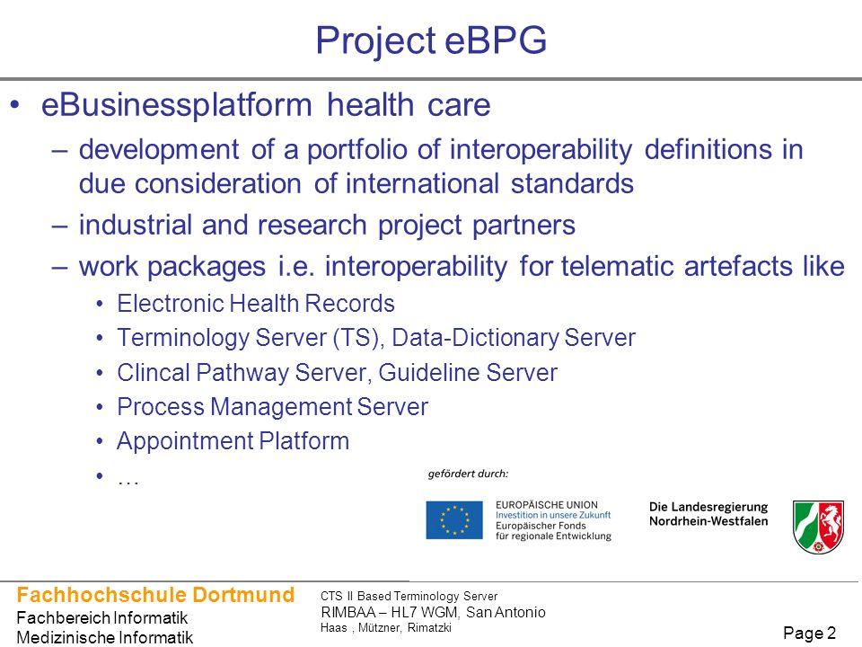 Project eBPG eBusinessplatform health care
