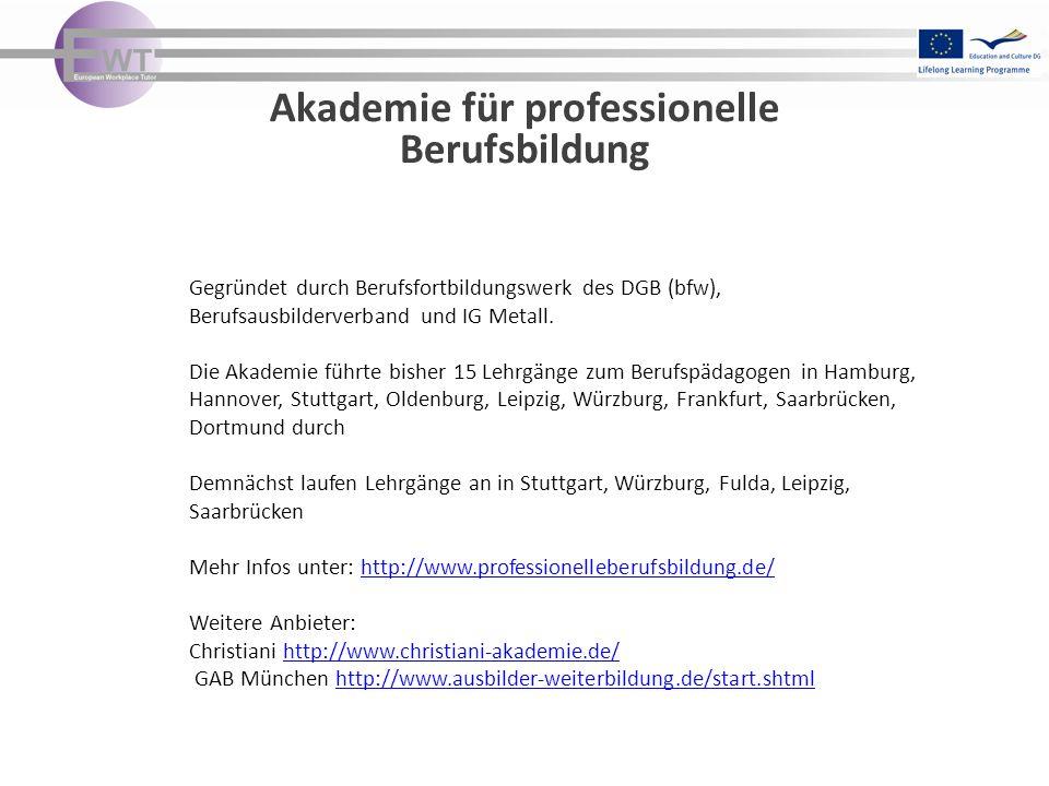 Akademie für professionelle Berufsbildung