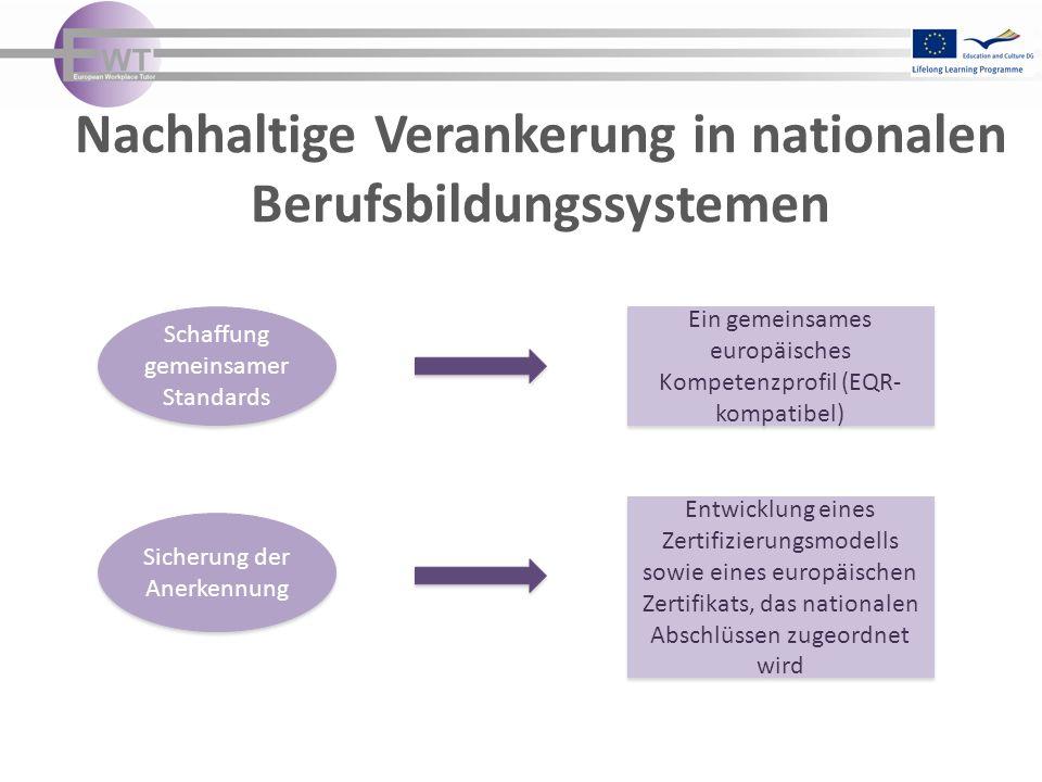 Nachhaltige Verankerung in nationalen Berufsbildungssystemen