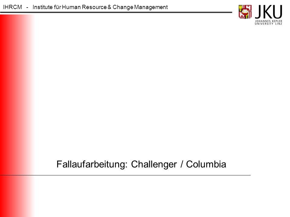 Fallaufarbeitung: Challenger / Columbia