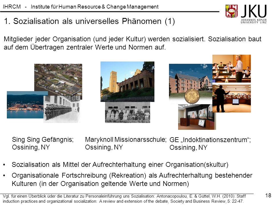 1. Sozialisation als universelles Phänomen (1)
